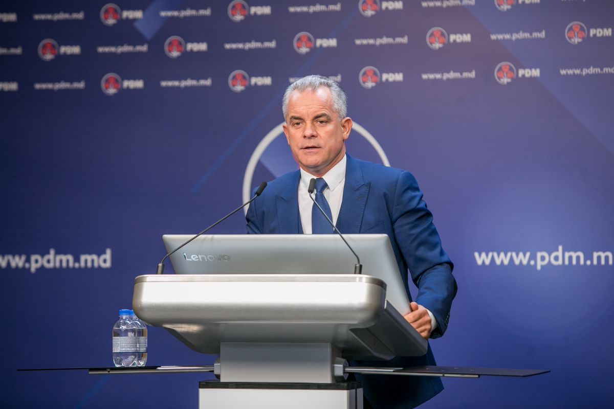 The leader of the ruling Democrat Party, Vlad Plahotniuc, is portrayed by the opposition (both left and right) as an oligarch who captured the country / © pdm.md