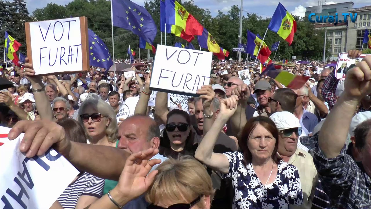 24th June 2017. A protest after the invalidation of the local elections in Chișinău / © Curaj TV